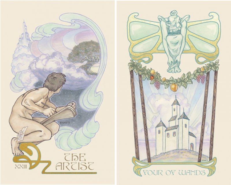 Ethereal Visions: Illuminated Tarot Deck