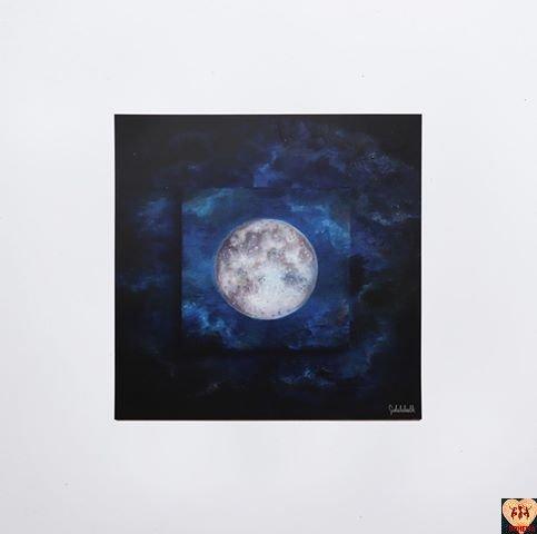 Pocztówka Full Moon Art