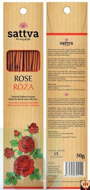 SATTVA INCENSE ROSE 30G ROZA