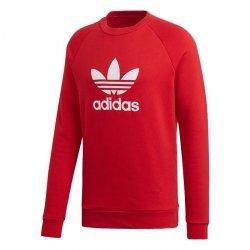 Adidas Originals czerwona bluza męska Trefoil Crew DX3615