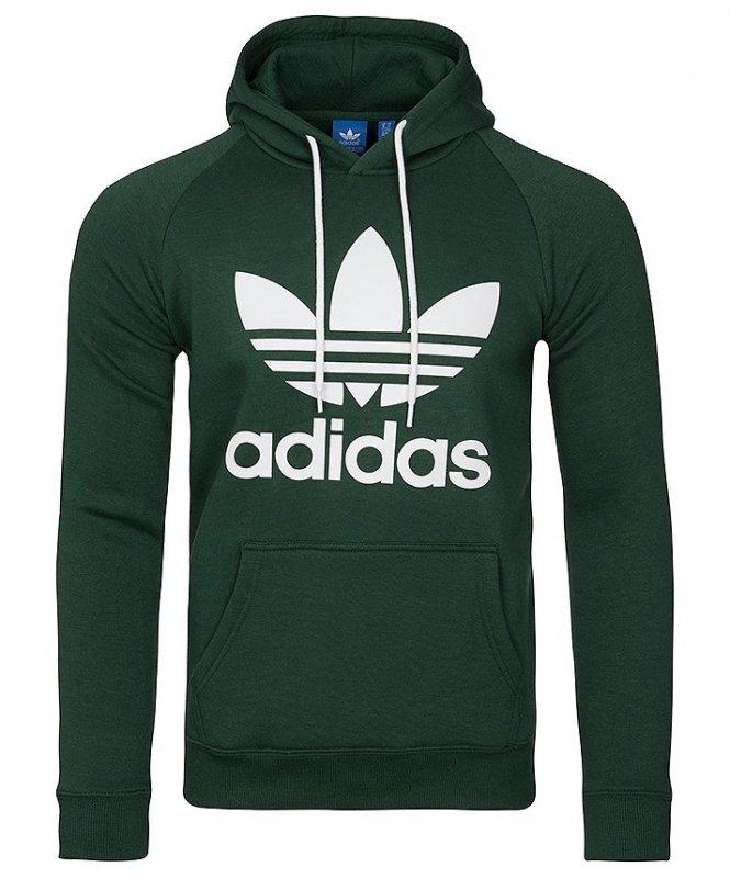konkretna oferta uroczy 100% najwyższej jakości Adidas Originals zielona bluza męska Orig 3foil Hood BR4183