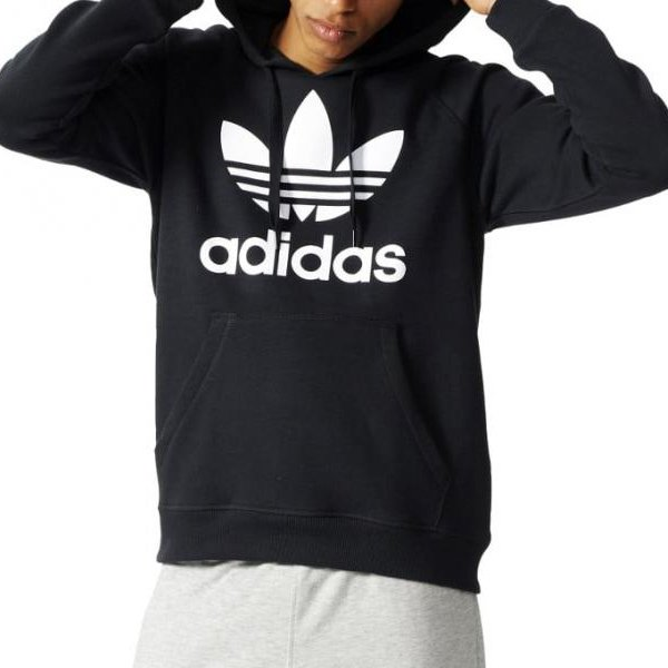 Adidas Originals czarna męska bluza Trefoil Hoody AB8291