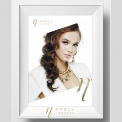 Plakat Noble Lashes Elegant A3