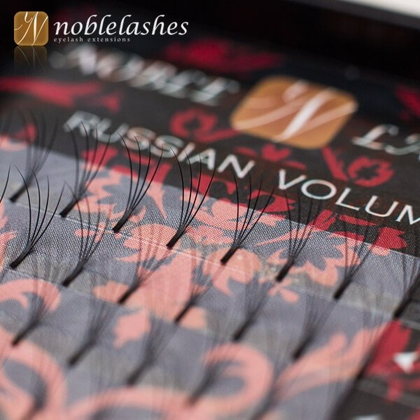 Wachlarze rzęs kępki Russian Volume 4D D 0,10