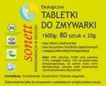 SONETT tabletki do zmywarki BEZZAPACHOWE 80szt