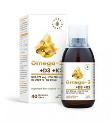 Omega-3 (30 DHA) + D3 (2000IU) + K2MK7 - płyn (200 ml)