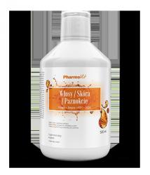Włosy / Skóra / Paznokcie Kolagen + Biotyna + MSM + CoQ10  500 ml Pharmovit