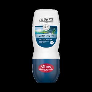 MEN SENSITIV 48h dezodorant roll-on z bio-trawą cytrynową i bio-bambusem