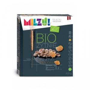 Płatki żytnio-owsiane z miodem BIO 300 g Milzu