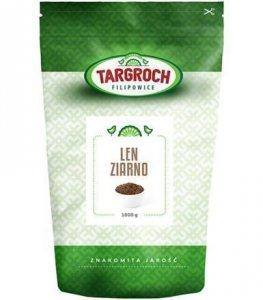 Len Brązowy Ziarno, Siemię lniane brązowe, Nasiona lnu 1 kg - Targroch