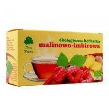 HERBATKA MALINOWO - IMBIROWA BIO (25 x 3 g) - DARY NATURY