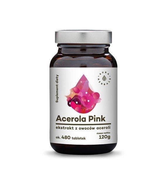 AURA suplement diety 25% pink ACEROLA 480szt