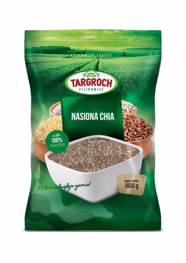 Chia Nasiona Szałwii Hiszpańskiej 1 kg - Salvia hispanica - Targroch