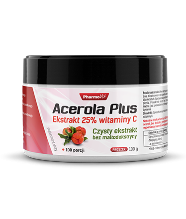 Acerola Plus 100g Ekstrakt 25% witaminy C Pharmovit