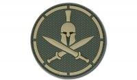MIL-SPEC MONKEY - Morale Patch - Spartan Helmet - PVC - Multicam