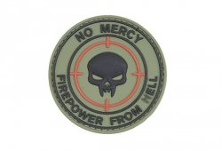 Naszywka 3D - NO MERCY – KINETIC WORKING GROUP - Olive