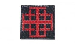 Combat-ID - Naszywka Krzyż Krzyżowców - Czerwony - Gen I