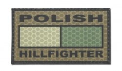 Combat-ID - Naszywka Polish Hill Fighter - Coyote Brown - Gen I