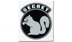 MIL-SPEC MONKEY - Naklejka - Secret Squirrel