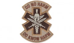 MIL-SPEC MONKEY - Morale Patch - Do No Harm Spartan - Desert
