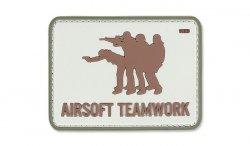 101 Inc. - Naszywka 3D - Airsoft Teamwork - Piaskowy