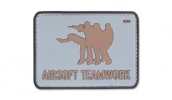 101 Inc. - Naszywka 3D - Airsoft Teamwork - Szary