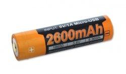 Fenix - Akumulator Li-ion 18650 2600mAh 3,6V - USB - ARB-L18-2600U