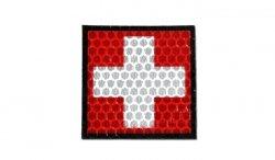 Combat-ID - Naszywka Krzyż - Czerwony - Gen I - F3