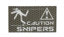 Combat-ID - Naszywka Caution Snipers - Coyote Brown - Gen I