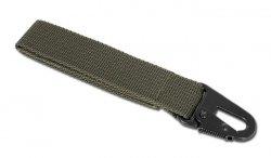 Mil-Tec - Trok z metalowym karabinkiem - 120mm - Zielony OD - 15916101