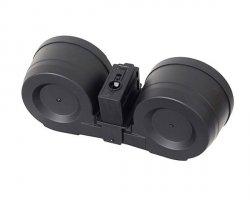Elektryczny magazynek dwubębnowy na 3000 kulek do G36 - Black [BattleAxe]