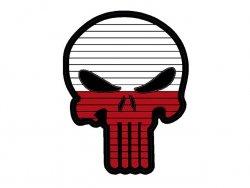 Naszywka Flag Skull POLAND [8FIELDS]