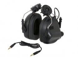 M31H Aktywne ochronniki słuchu na hełm - BK [EARMOR]