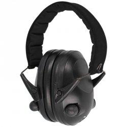 Mil-Tec - Ochronniki słuchu aktywne Defenders - Black (16243002)