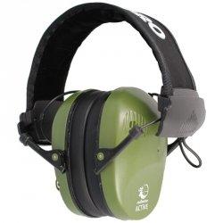 RealHunter - Ochronniki słuchu Active Pro Olive + Okulary (258-023)