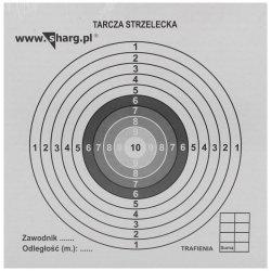 Tarcze strzeleckie Sharg 140x140mm 100szt (100-01)