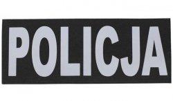 Naszywka odblaskowa POLICJA - Czarny