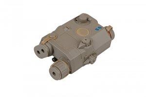 FMA - Replika AN/PEQ 15 z celownikiem laserowym - dark earth