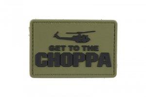 Naszywka 3D - Get to the Choppa - oliwkowa