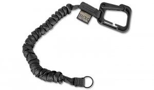 Cetacea Tactical - Poly-Bina Covered Mini Coil Tether - Czarny