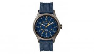 Timex - Zegarek Allied z paskiem z tworzywa - Niebieski - TW2R61100