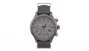 Timex - Zegarek Field z chronografem i tachymetrem - Szary - TW2T72900