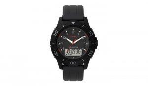 Timex - Zegarek Expedition z cyfrowym stoperem - Czarny - TW4B18200