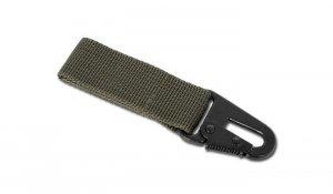 Mil-Tec - Trok z metalowym karabinkiem - 70mm - Zielony OD - 15916001