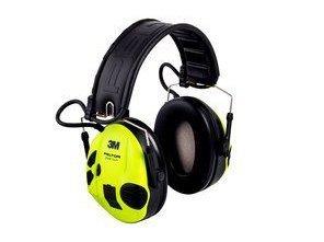 Ochronniki słuchu aktywne Peltor SportTac - zielono-żółte
