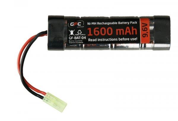 GFC - Akumulator NiMH 9,6V 1600mAh typ mini
