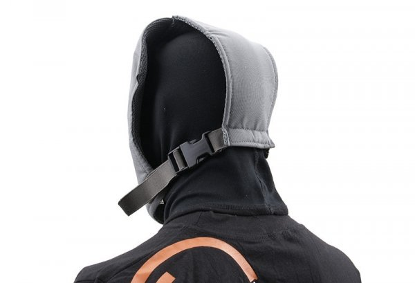 Pełna maska stalowa Ventus - szara