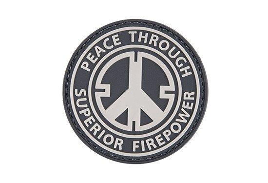 Naszywka 3D - Peace Through Superior Firepower