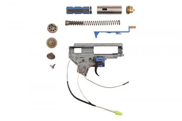 Specna Arms - Kompletny gearbox V2 E&C - kable na tył