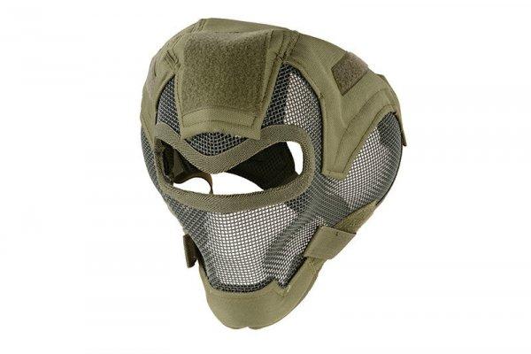 Pełna maska stalowa V7 - olive